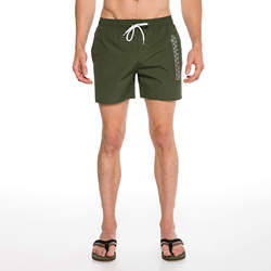 Routefield Volt Dark Green Mens Board Shorts Swimwear Swimming Beach Short Surf Pants Swimsuits Boardshorts