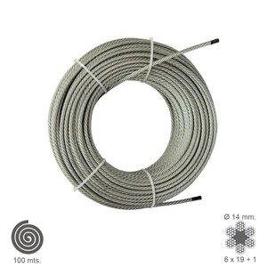 Galvanized Cable 14mm. (Roll 100 Meters) Not Lift|Transmission & Cables|   -