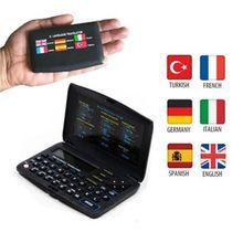Electronic Dictionary 6 Languages Translation Large LCD Screen light design Turkish English French Spanish German Italian