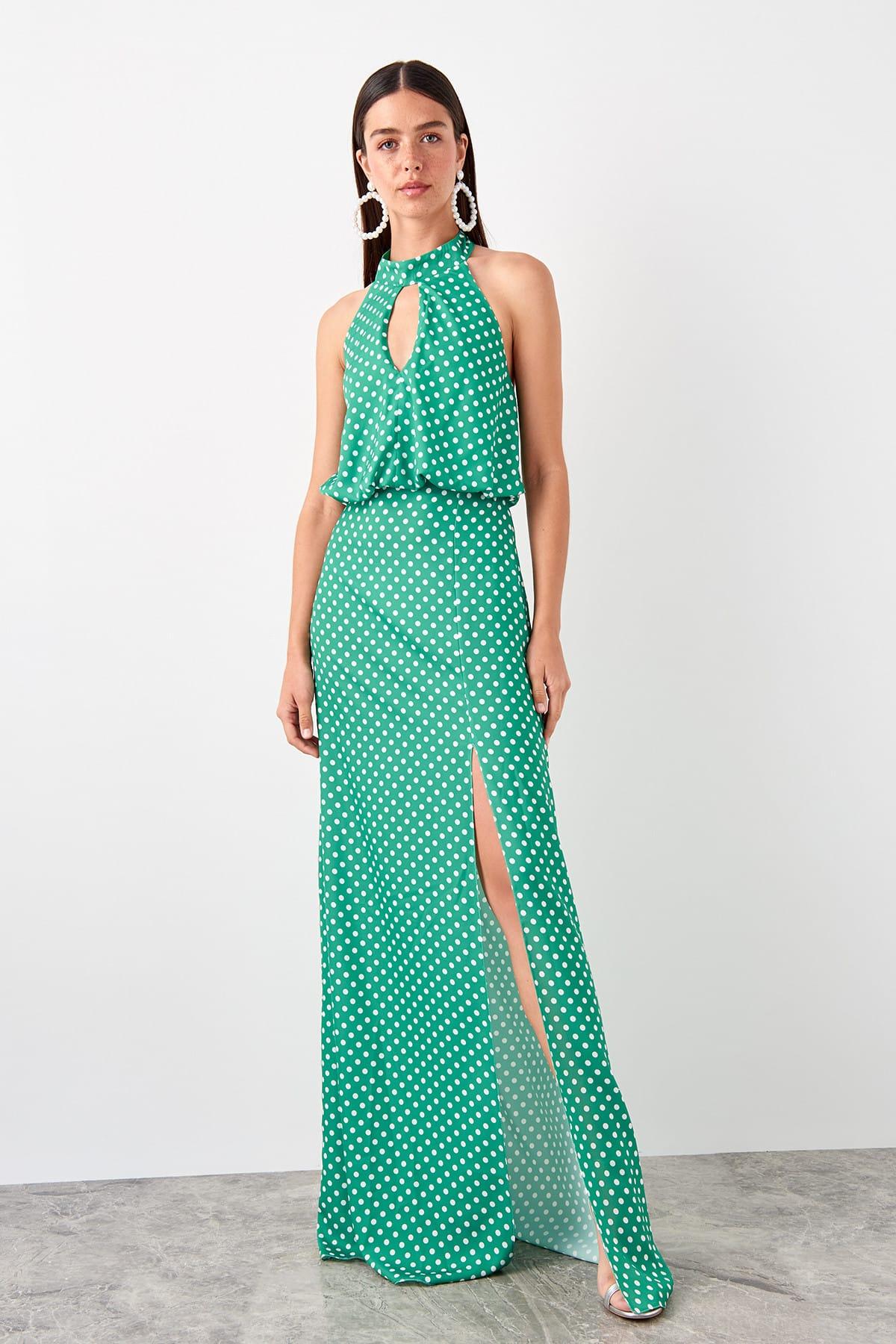 Trendyol Polka Dot Evening Dress TPRSS19AE0130|Evening Dresses|   - AliExpress