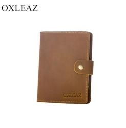 Housse sur le passeport cuir véritable OXLEAZ OX2064