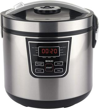 Sogo OLL-SS-10765 Food Processor automatic, 5 l, 860 W, 5 Ltr, Steel Stainless, Silver