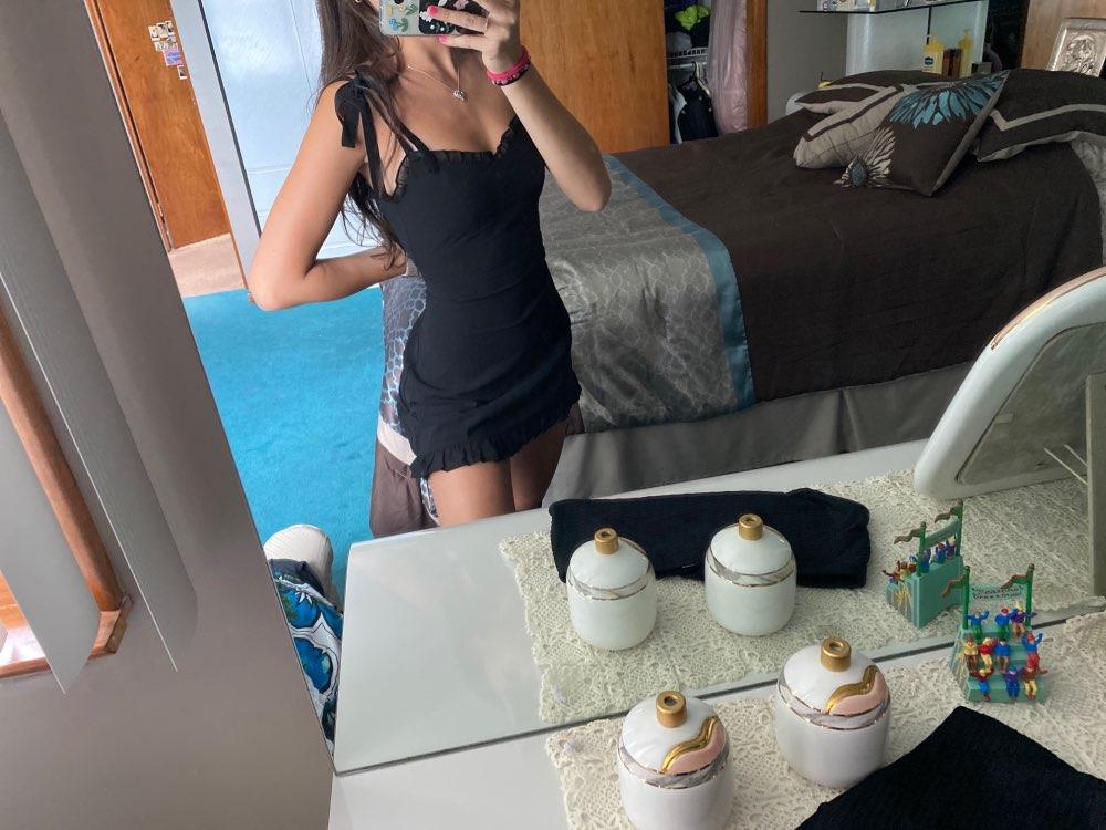 Pastel gothic E-girl Black Mini Dresses photo review