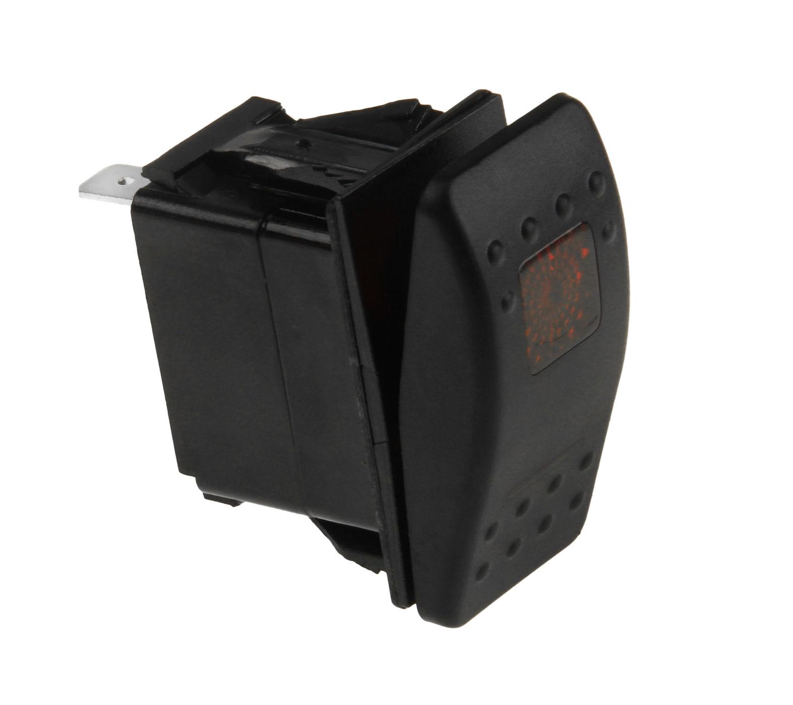 Переключатель трехпозиционный (ON) OFF ON 12В/20А 4Р с подсветкой без фиксации 1 положения AES111883PBM1 Аксессуары для переключателей    АлиЭкспресс