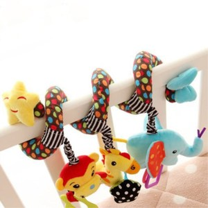 Image 4 - Baby Kid Cute Activity Spiral Crib Stroller Car Seat Travel Hanging Toys Baby Rattles Toy Colorful