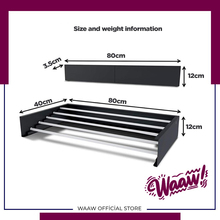 Waaw Laundry Drying Rack Foldable Special Design 80 Cm Quality New Generation Long Life Easy Installation Collapsible Stanless