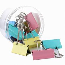 Long Tail Clips Metal Paper 15mm 19mm Colorful Candy Color Clip For Book Stationery School Office Supplies High Quality