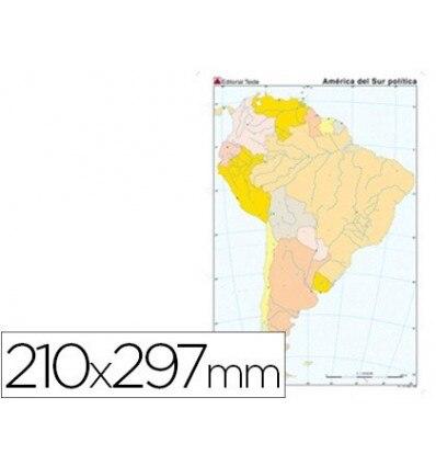 MAP MUTE COLOR DIN A4 AMERICA SOUTH POLITICO 100 Units