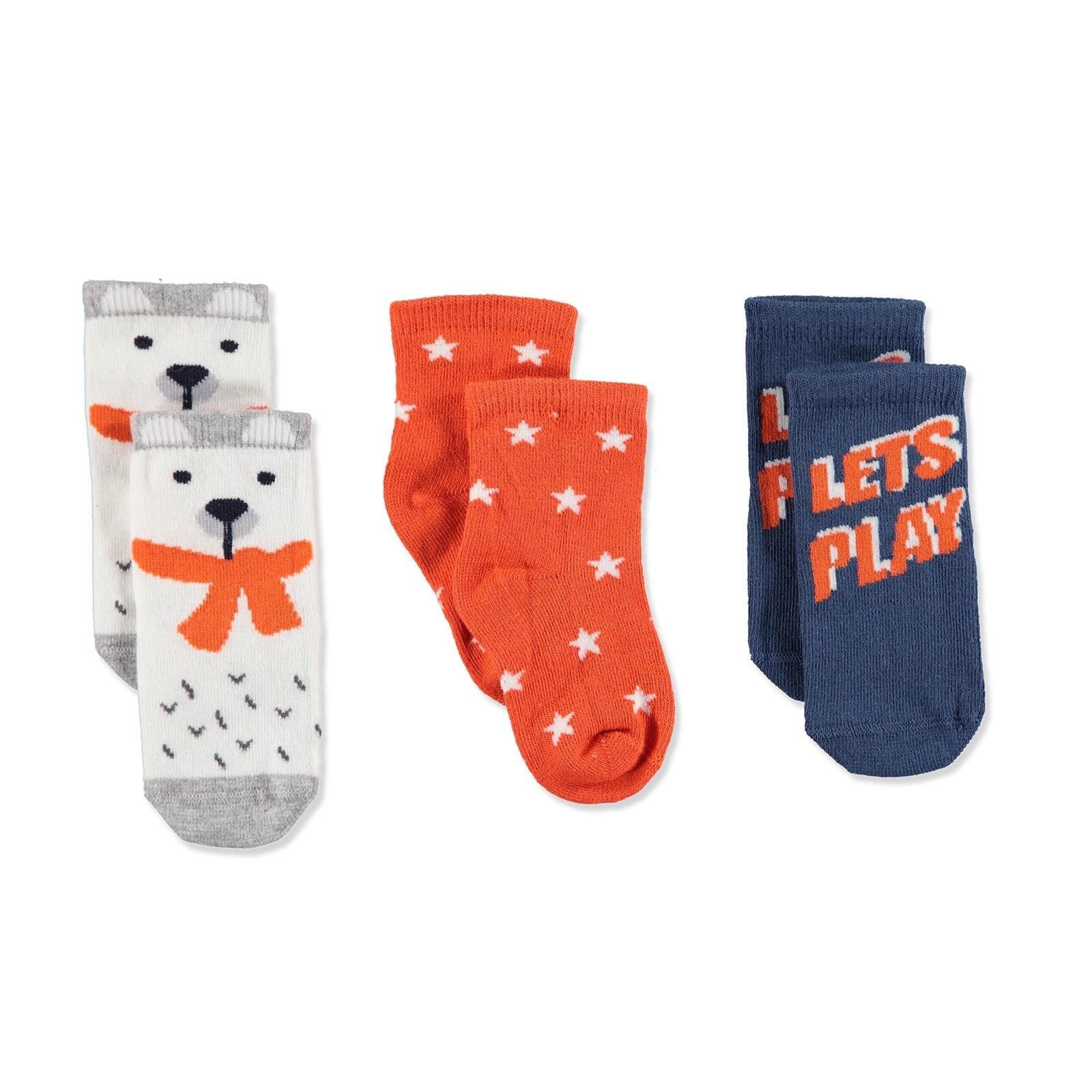 Ebebek Step 3 Pack Baby Socks Lets Play
