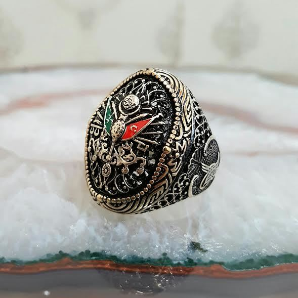 925 sterling Silver the Ottoman State Crested ring()