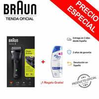 Braun Series 3 300 s, 3020s, 3000s Afeitadora Eléctrica Para Hombre - Máquina de Afeitar Barba + Champús H & S de Regalo
