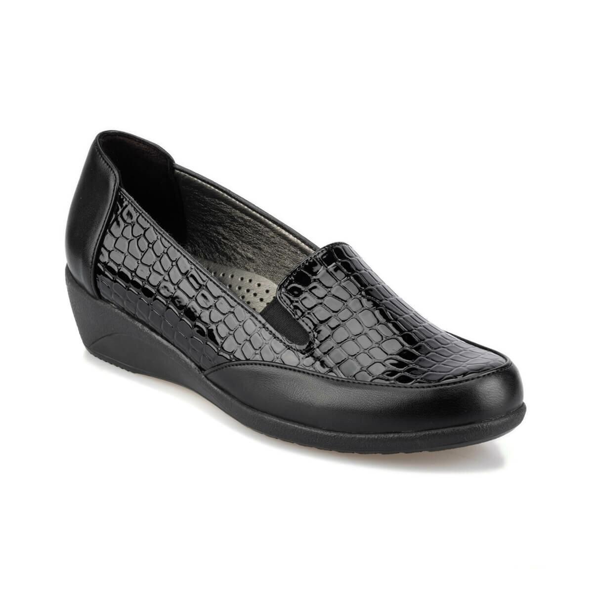 FLO 92.150022RZ Black Women 'S Wedges Shoes Polaris