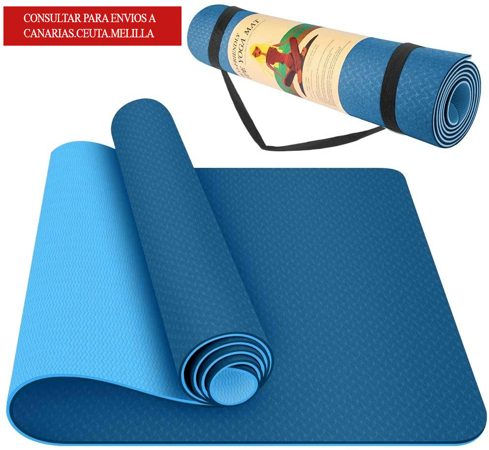 Mat mat Mat YOGA PILATES mat 183X61 CM TPE two-color non-slip with protective cover free shipping to National