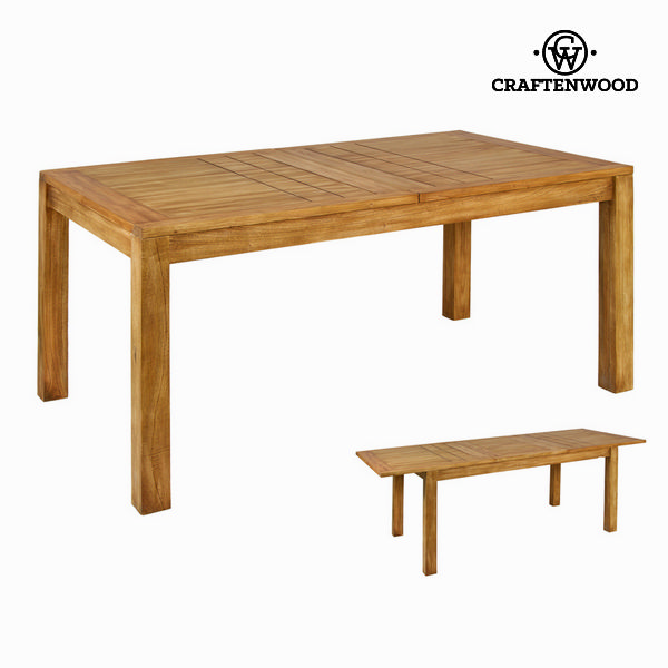 Expandable Table Mindi Wood (160 X 90 X 78 Cm) - Square Collection By Craftenwood