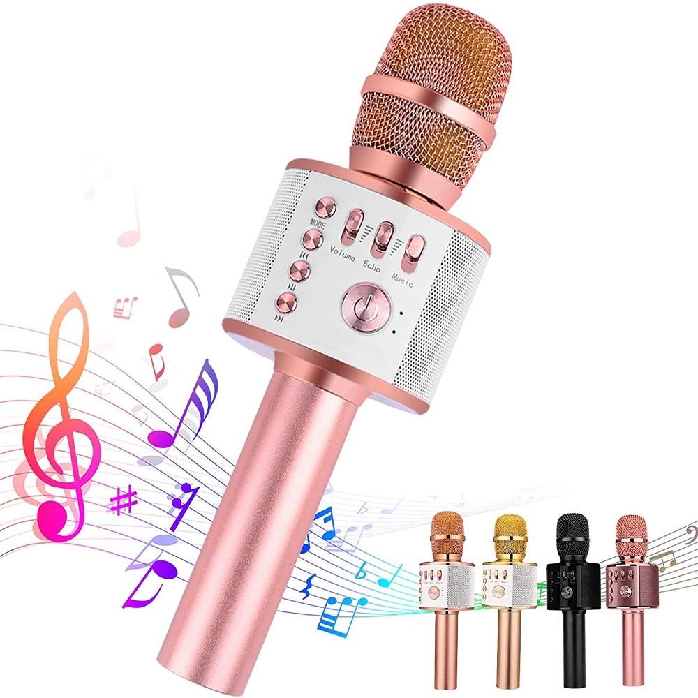 Kablosuz Karaoke Bluetooth mikrofon Sd/Usb ses değişim profesyonel hoparlör el микрофон çalar şarkı kaydedici hediye