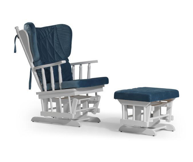 Rocking Gliding Chair w/ Sliding Ottoman 3