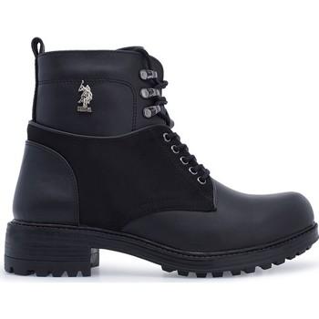 Usa Polo Assn Kobiety maja 9pr buty czarne 29 W04MAY9PR tanie i dobre opinie U S POLO ASSN ANKLE US (pochodzenie) PŁÓTNO SKÓRA KLEJONA Zima Dla osób dorosłych buty na deszczową pogodę PRAWDZIWA SKÓRA