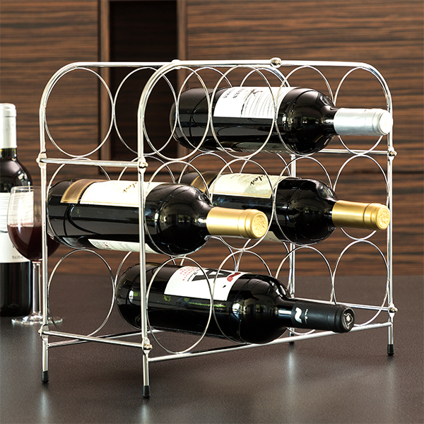 Honeycomb Metallic Bottle Rack (12 Bottles)