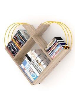 Meble do domu regał ścienny regał dekoracyjny regał na książki regały biblioteczne dębowe-żółte tanie i dobre opinie TR (pochodzenie) Turkey 89x74x18 CM Nowoczesne Drewna meble do salonu Drewniane