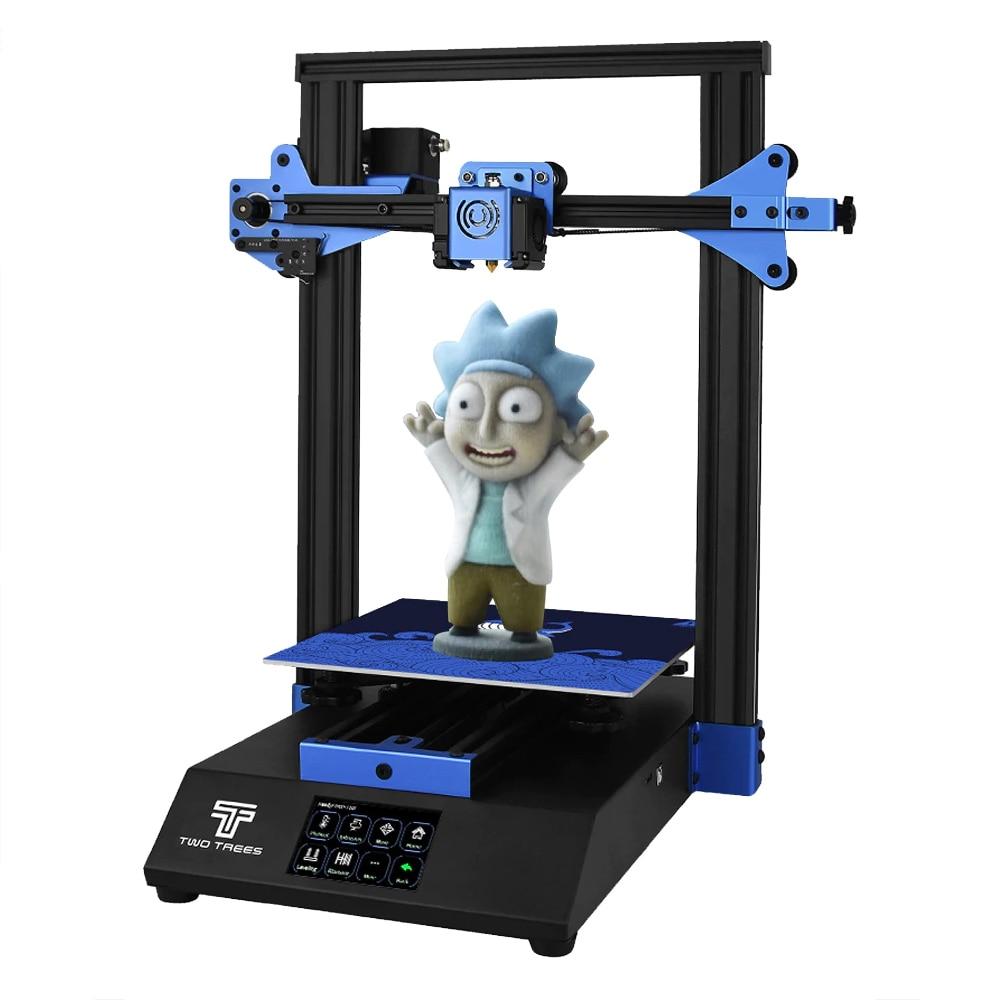 Twotrees 3D-принтеры синее немой диск TMC2208 Стекло возобновить Питание 24V Печати Маски BMG экструдер комплект XY натяжитель Стекло
