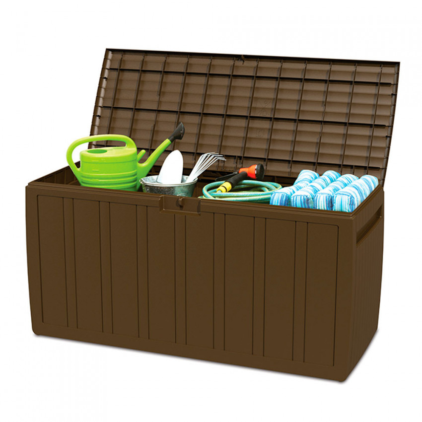 Outdoor Chest 270 Litres Brown Resin 117x45,5x57cm GH91