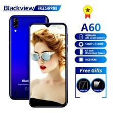 Blackview A60 Smartphone Quad Core Android 8.1 4080mAh Cellphone 1GB+16GB 6.1 inch 19.2:9 Screen Dua