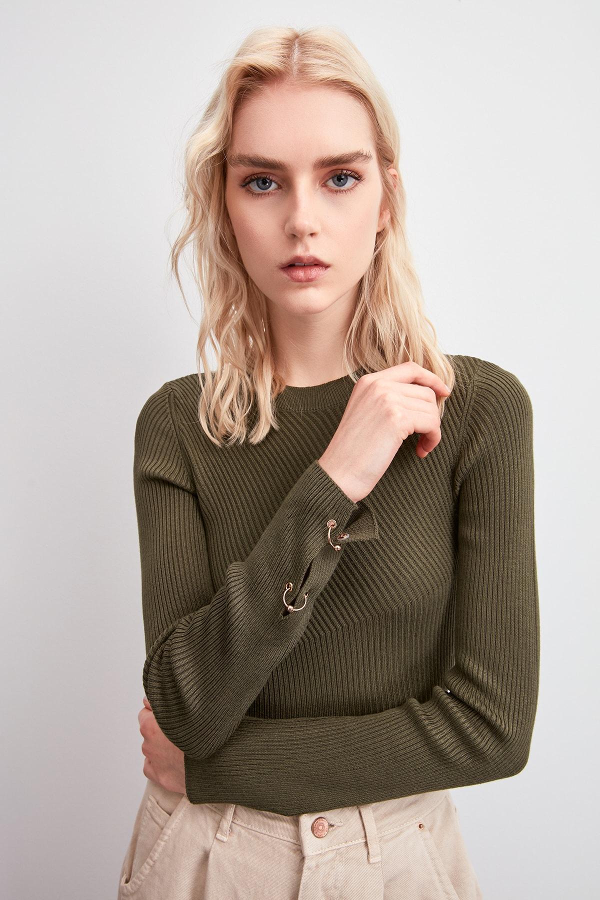 Trendyol Sleeve Detail Sweater Sweater TWOAW20KZ1518