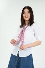 Women's Scarf White Shirt 2087