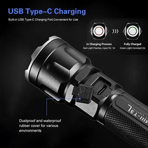Image 3 - JETBeam IIIMR 2000LM גבוהה כוח LED צבאי משטרת פנס USB נטענת טקטי משטרת פנס לפיד