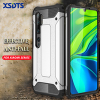 Funda para Xiaomi MI 11 10T 10I Note 10 9 SE 9T MI9 Lite CC9 CC9E Pro Poco M3 F1 F2 X3 NFC PC + TPU armadura a prueba de golpes
