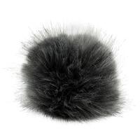 5as 305 pompom made of artificial fur 11 cm (gray)