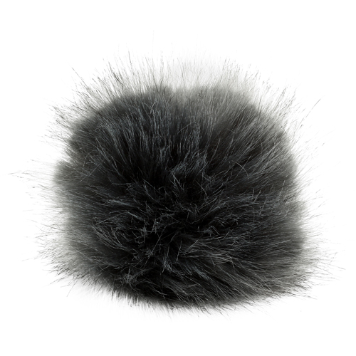 5as-305 Pompom Made Of Artificial Fur 11 Cm (gray)