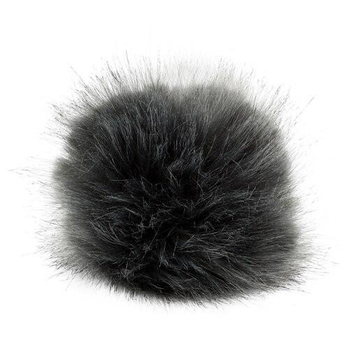 5as-305 Pompom Made Of Artificial Fur 11 Cm (gray)
