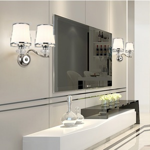 Image 4 - ברק המודרני Chrome מתכת Led נברשות תאורת גביש סלון Led תליון נברשות אורות שינה Led תליית אור