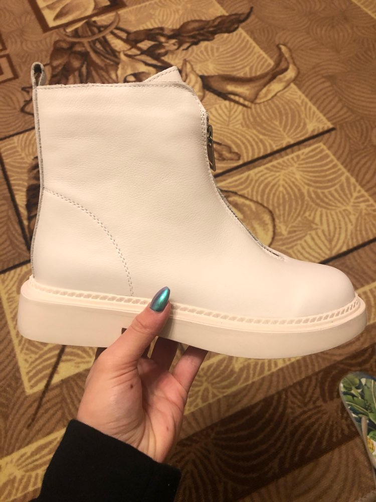 Leather zip booty cotton winter boots shoes woman women shoes zapatos mujer boots snow boots ankle boots for women booties