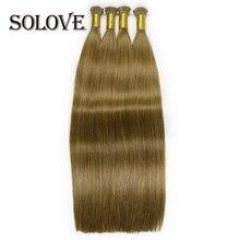 Hair-Capsules Human-Hair-Extensions Keratin Hair-Virgin of I-Tip Straight Smoothing Bonded