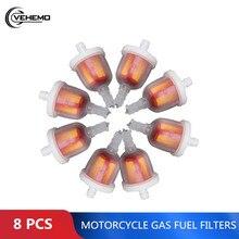 8 шт. Универсальные фитинги для мотоцикла, топливный фильтр, магнит, бензиновые фитинги, аксессуары для мотоциклов