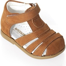 Summer Baby Boy Tan Sandals Shoes Genuine Leather Hand Made Orthopedic Made in Turkey