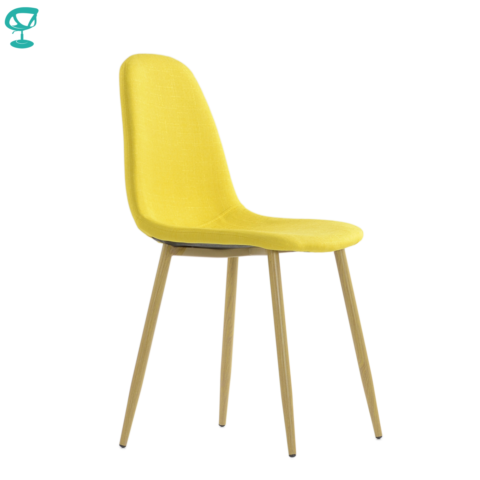 95747 Barneo S-15 Kitchen Chair Legs Metal Seat Fabric Chair For Living Room Chair Dining Chair Table Chair Furniture For Kitchen