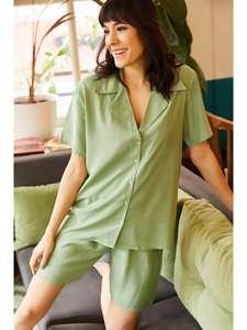 Ola Women Shorts Viscose Pajamas set TKM-19000060