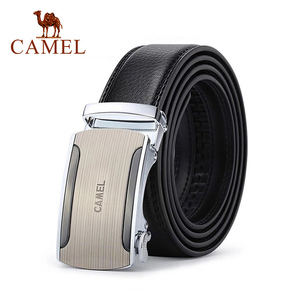 Image 1 - CAMEL Men Belt fashion Cow Genuine Leather Business Wild Casual Pin Buckle Belt Automatic Buckle Design Flexible Top Layer