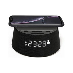 Alarm Clock with Wireless Charger Philips TAPR702/12 FM Bluetooth Black