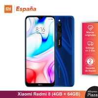 Xiaomi Redmi 8 (64GB ROM, 4GB RAM, Cámara de 12MP , Batería de 5000 mAh, Android, Nuevo, Libre) [Teléfono Movil Versión Global para España] redmi8