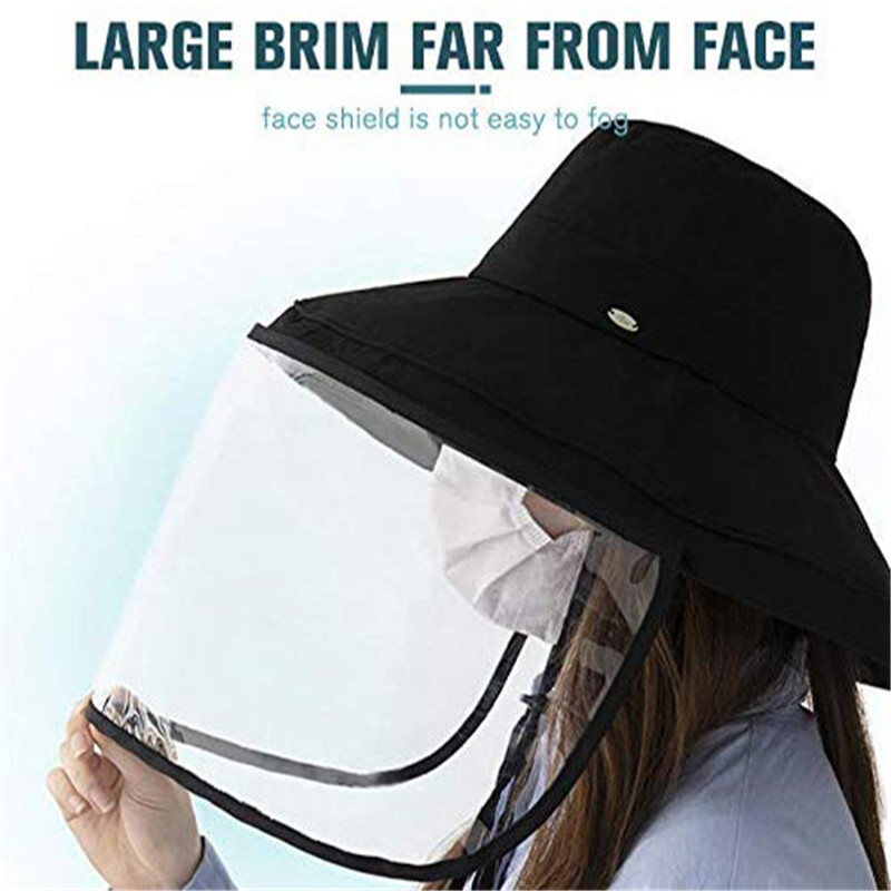 Anti Virus Pollution Removable Protective Cap Reusable Masks Anti-fog Hat Anti-ultraviolet Isolation Mask Sun Prevent Hat