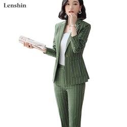 Conjunto de pantalón Formal de 2 piezas de alta calidad con bolsillos grandes chaqueta de oficina para mujer y chaqueta de negocios