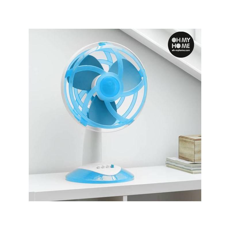 Fan Desktop Blue With Blades EVA Rubber Ooh My Home 45W