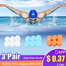 Водонепроницаемый 6 шт. силиконовая мягкая вода наушники для занятий спортом, защитные ушные Вилки затычки ушные для плавания противошумные наушники