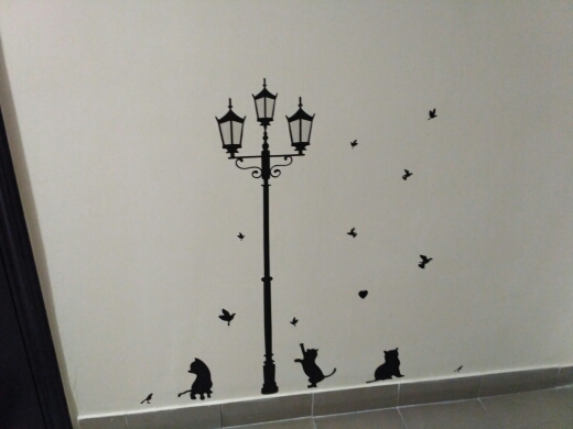 Popular Ancient Lamp Cats and Birds Wall Sticker Wall Mural Home Decor Room Kids Decals Wallpaper bird wall sticker wall stickerlamp cat - AliExpress