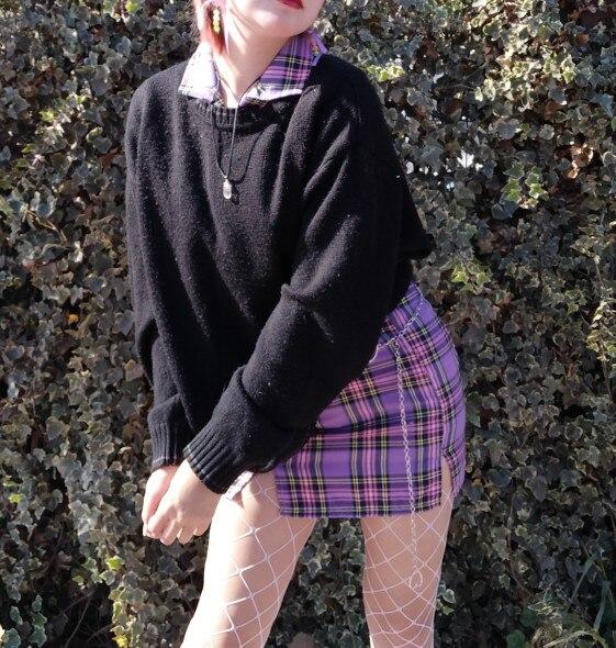 Summer Harajuku Plaid Pencil Skirts Womens High Waist Mini Skirts Lining With Shorts Korean Streetwear Vintage Sexy Skirt|Skirts|   - AliExpress