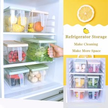 Kitchen PP Transparent Storage Box Sealed for Home Organizer Food Container Kitchen Cabinets Refrigerator Storage Boxes 2018 new fashion green square cz zircon necklace earring bracelet ring wedding bridal banquet dinner dressing jewelry set